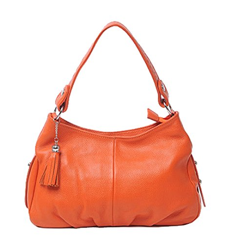 Orange Leather Handbag - 2