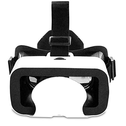 EGCLJ 3D Head Virtual Reality Glasses Mini Compact Light Weight & Comfortable with Adjustable Lenses & Head Strap, for iOS and Android Smartphone