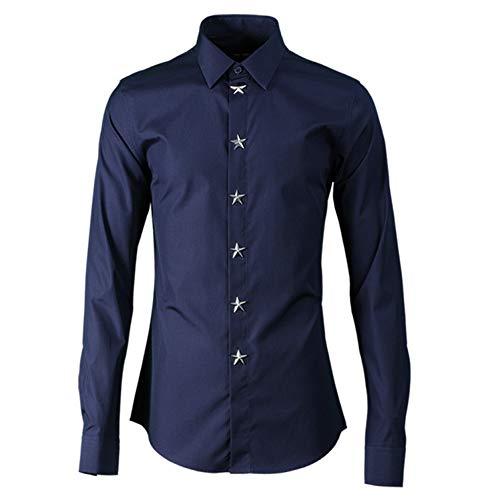 Dark bleu  Wangyi Chemise Chemises habillées à Manches Longues à Manches Longues
