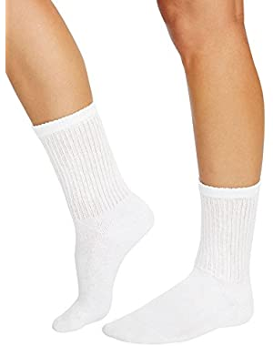 Hanes Women`s 12-Pack Cushion Crew Socks