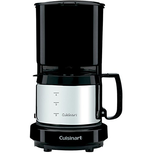 4-Cup Coffeemaker with Brushed Stainless Carafe