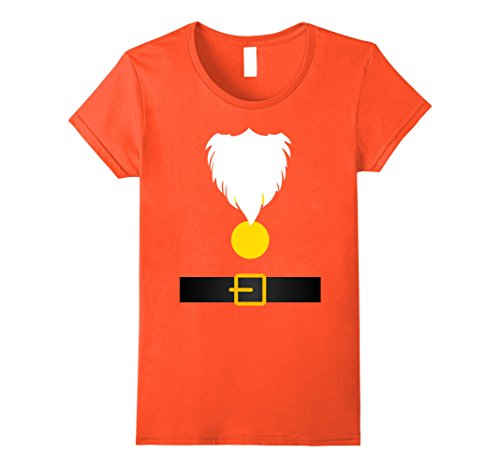 Halloween Happy Dwarf Costume (Womens Funny Dwarf Costume T-Shirt for Halloween or Christmas Small)
