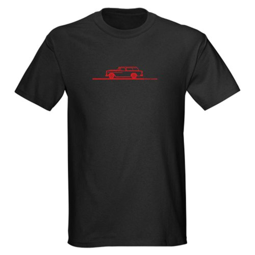 CafePress - 1955 Chevy Nomad - 100% Cotton T-Shirt, Crew Neck, Soft and Comfortable Classic Tee with Unique Design - Chevy Nomad Wagon