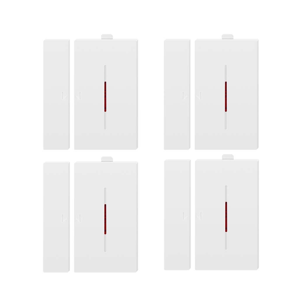 SONOFF DW1 Sensor de alarma para puertas y ventanas Alarma de sensor de puerta abierta Inal/ámbrico Alarma de entrada de ventana de puerta Sistema de alarma antirrobo Alarma antirrobo