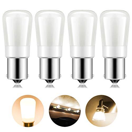 Light 1156 Bulb Ba15s (Kohree 1156 Vanity Light Bulb Replacement 20-99/1141/BA15S LED Bulb 12V or 24V LED Bulb for RV Camper Trailer Motorhome 5th Wheel and Marine Boat Pack of 4(Warm White))