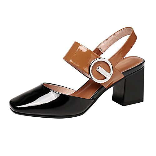 Toe Dating Sandals Women's Closed Prom Shoes Party Black Heel CJC High 6qXpqUZ