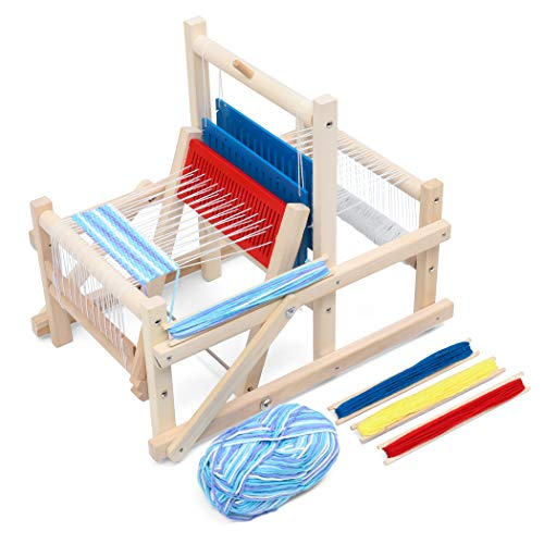 Lavievert Wooden Multi-Craft Weaving Loom DIY Hand-Knitting Weaving Machine Intellectual Toys for Kids ()
