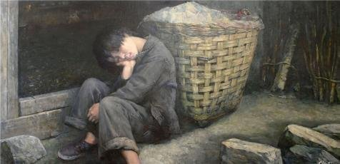 oil-painting-a-sleeping-boy-printing-on-high-quality-polyster-canvas-12x25-inch-30x63-cm-the-best-ho