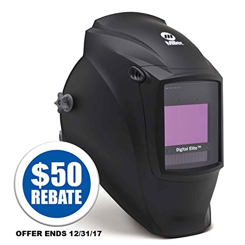Auto Darkening Welding Helmet,  Black,  Digital Elite,  3,  5 to 8 / 8 to 13 Lens Shade by Miller Electric