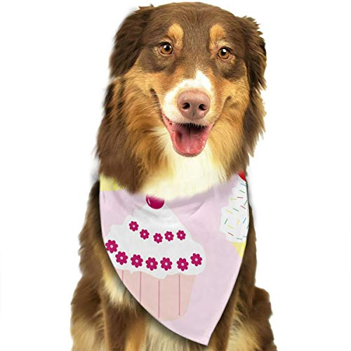 Pet Scarf Dog Bandana Bibs Triangle Head Scarfs Cup Cakes Accessories for Cats Baby -