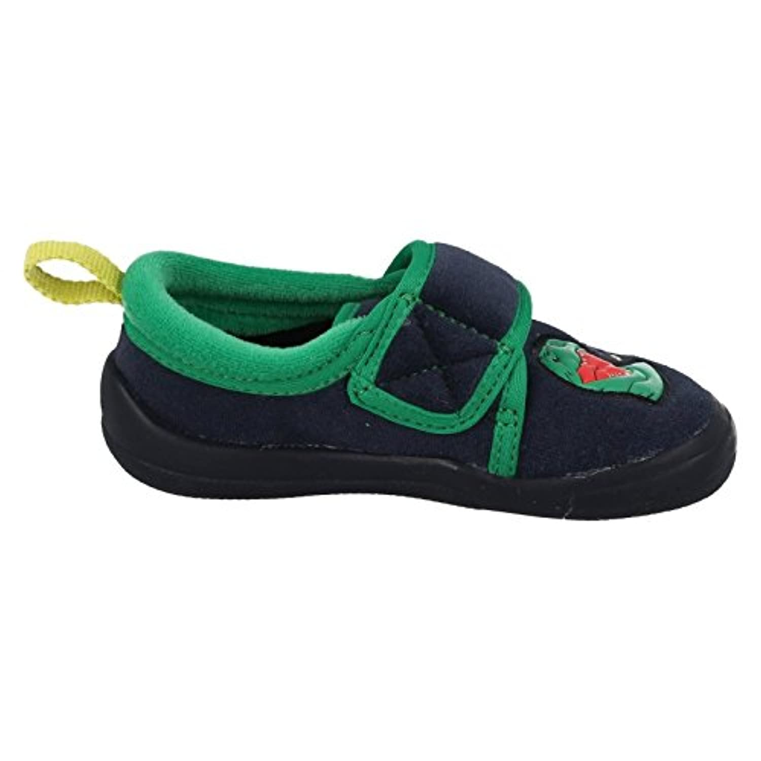 Clarks Cuba Stompo Inf Boy's Slippers in Navy Synthetic 10.5 Navy Synthetic