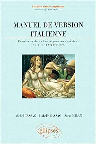 Amazon Fr Manuel De Version Italienne 1er Cycle De L