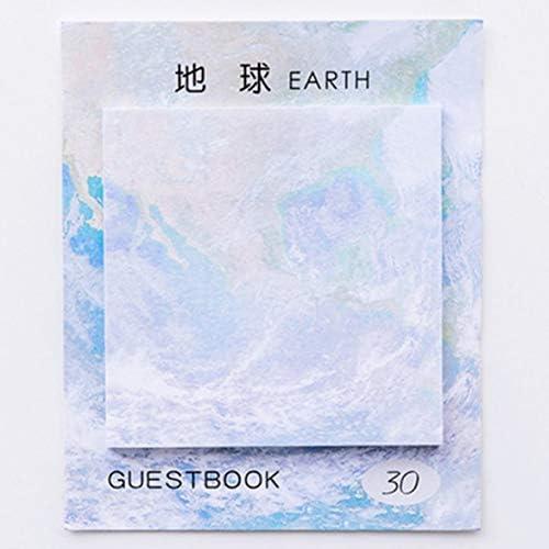 Tivollyff 学生の文房具の正方形の形の美しい惑星の粘着性があるノートの粘着性がある引き裂ける絵画メモ帳のペーパー粘着性があるメモ