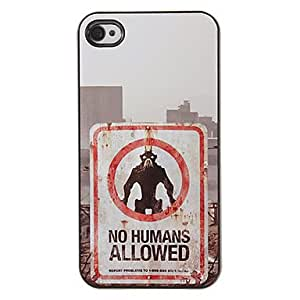 Orangutan Pattern PC Hard Case with 3 Packed HD Screen Protectors for iPhone 4/4S