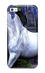 Rugged Skin Case Cover For ipod touch4- Eco-friendly Packaging(unicorn Horse Magical Animal Y)