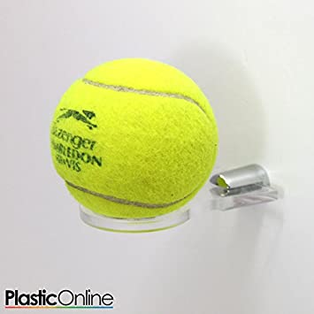 58f1f748ee7 Plastic Online Ltd Pack of 3 Acrylic Wall Mounted Tennis Ball Display Stand  Shelf Bracket Perspex  Amazon.co.uk  Sports   Outdoors