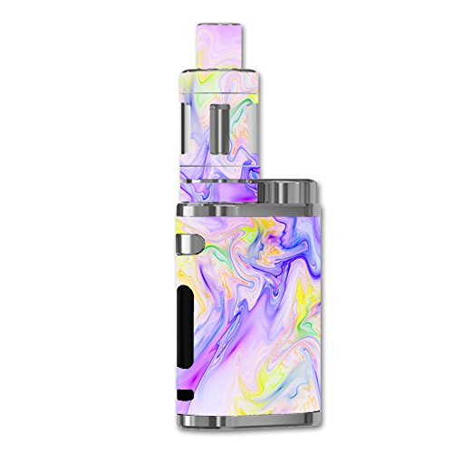 (Skin Decal Vinyl Wrap for eLeaf iStick Pico 75W Vape stickers skins cover/Pastel Marble resin pink purple swirls mix)