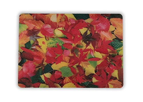 - Resilia - Grill and Garage Protective Mat - Decorative Embossed Diamond Plate Pattern - Leaves, (3 Feet x 4 Feet)
