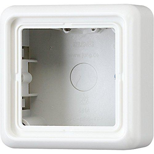 Jung CD581AWW - Caja de conexión eléctrica con Marco embellecedor (1 Orificio)