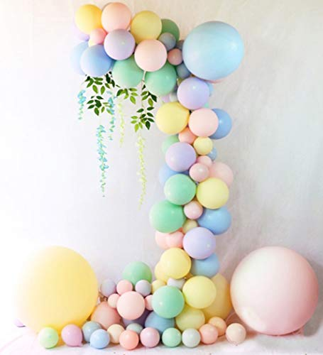 Beaumode DIY Pastel Balloons Garland Kit 104 pcs Assorted Macaron Candy Colored Latex Party Balloons Arch for Wedding Graduation Kids Birthday Unicorn Party Christmas Baby Shower Party -
