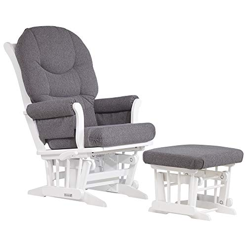 Dutailier Sleigh 0372 Glider Multiposition-Lock Recline with Ottoman Included ()