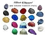 20 Color Variety Pack Mica Powder Pure, 2TONE Series Variety Pigment Packs (Epoxy,Paint,Color,Art) Black Diamond Pigments
