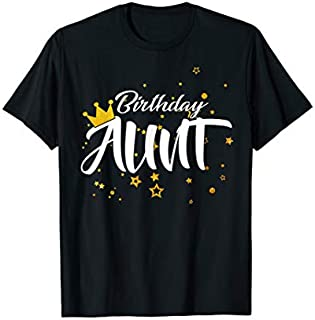 Cool Gift Birthday Aunt  Aunt of the Birthday Aunt  Funny Women Tee Shirt / Navy / S - 5XL