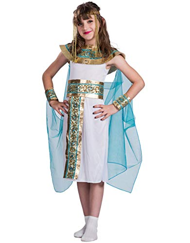Halloween Egyptian Queen Costume Gown with Headpiece for Girls Children Christmals Role Cosplay Csotume Dress-up (Small) -