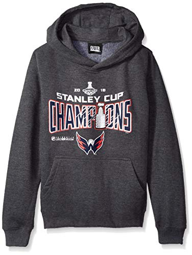 - Outerstuff NHL Winnipeg Jets Men's 2018 Stanley Cup Locker Room Champs Fleece Hoodie, Charcoal, Youth Small(8)