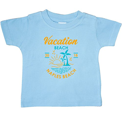 inktastic 2018 Vacation in Naples Baby T-Shirt 24 Months Light Blue 3017c - Naples Three Light