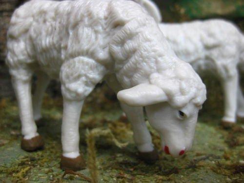 Collectible Figurines Animals Sheep Nativity Scene 7.5'' Manger - USA_Mall