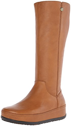 FitFlop Women's Superboot Leather Boot,Tan,5 M US