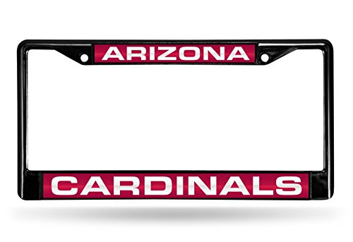 Rico Arizona Cardinals NFL Black Metal Laser Cut License Plate Frame ()