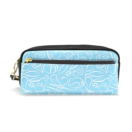 (Waterproof Travel Toiletry Pouch,Pencil Pen Case Multi-functional Cosmetic Makeup Bag, Fashion Zipper Pouch Purse Roasted Vegetables Picture)