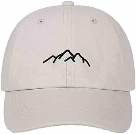 10c60bcf274 MARRY cap New Mountain Range Embroidery Mens Womens Baseball Caps  Adjustable Snapback Caps