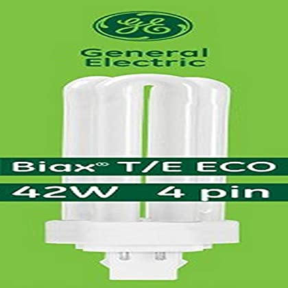 Image of Health and Household GE Lighting Energy Smart CFL 97636 42-Watt, 3200-Lumen Triple Biax Light Bulb with Gx24-Q4 Base, 10-Pack