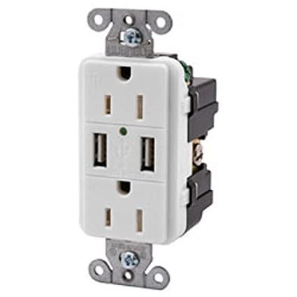 hubbell wiring systems usb15x2w usb receptacle standard outlets rh amazon ca Hubbell Wiring Devices Cross Reference 200 Amp 3 Phase Hubbell Wiring Device