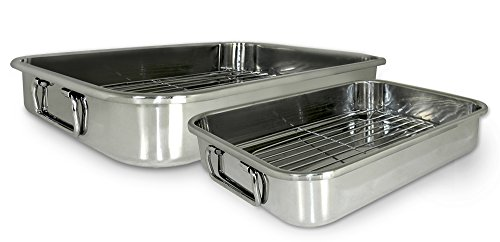 Cook Pro 561 4-Piece All-in-1 Lasagna and Roasting Pan 3 Piece Roaster Set