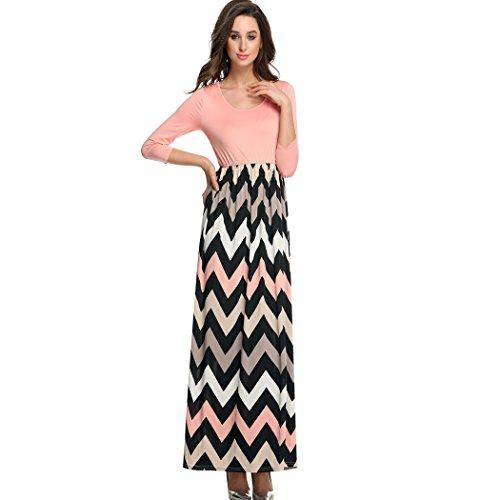 ANGVNS Fashion Contrast Striped Chevron