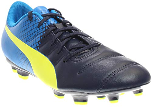 PUMA Mens Evopower 4.3 Tricks Firm Ground Cleats Athletic & Sneakers Blue