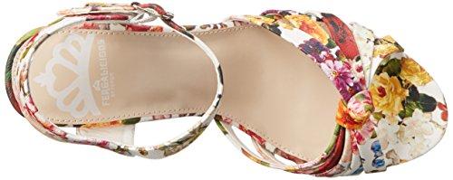 White Willa Women's Sandal Wedge Floral Fergalicious wfpvIqv