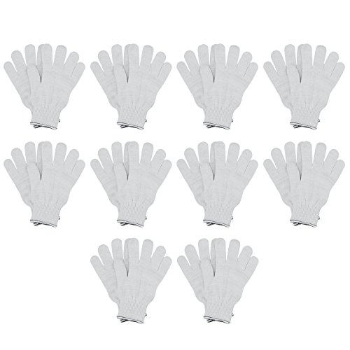 MJ 10 Pairs Industrial Cotton String Knit Protective Work Gloves White