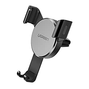 UGREEN Car Air Vent Phone Holder Gravity Phone Cradle Compatible for iPhone Xs X XR 6S 7 Plus 8 5S 6, Samsung Galaxy S9 S7 Edge S8 S6, Google Pixel 2 XL, LG G6 Smartphone (Grey)
