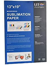 LIT Sublimation Paper 13x19 inch, 100 Sheets,110gsm - For any Inkjet Printers With Sublimation Inks,