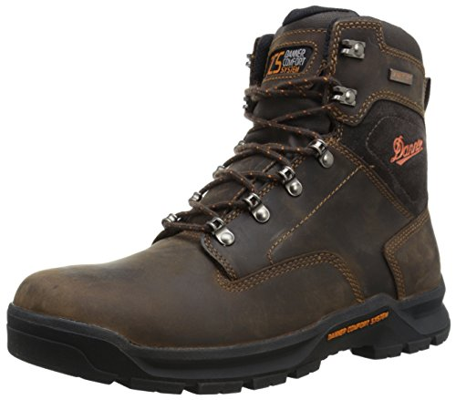 Danner Men's Crafter 6 Inch Plain Toe Work Boot, Brown, 10.5 D US (High Hill Work Boots)