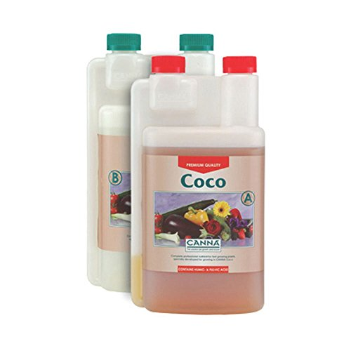 41L9zYYMRHL Canna Coco A & B 2-Part Grow Veg Bloom Flower Hydroponics Nutrient Liter 1L 5L