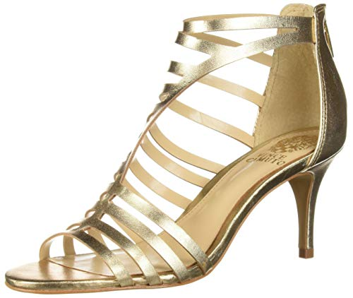 Vince Camuto Women's Petronia Heeled Sandal, Gold, 9 Medium US
