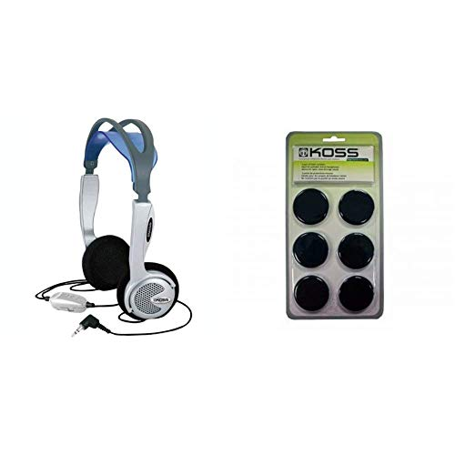 Koss KTXPRO1 Titanium Portable Headphones with Volume Control Portable Replacement Cushions