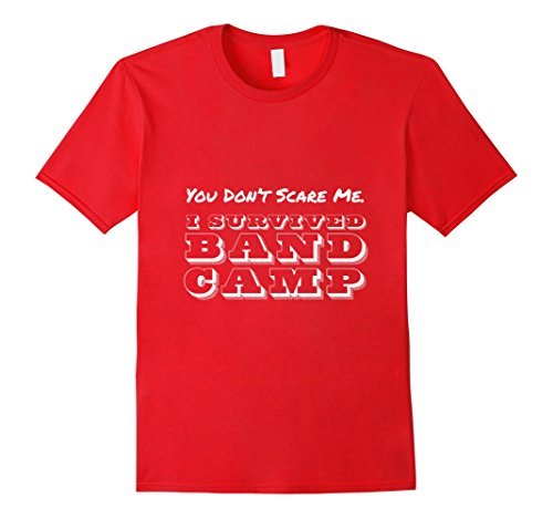 Mens Marching Band - I Survived Band Camp T-Shirt 2XL Red