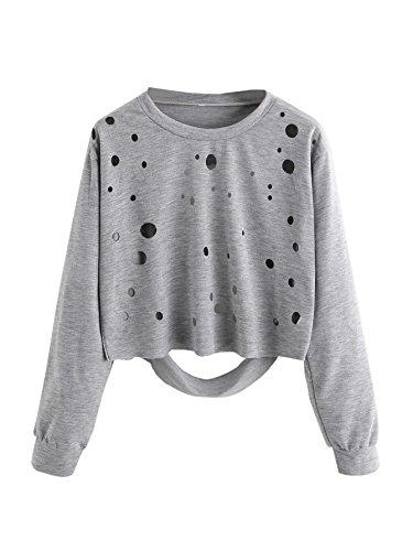 Distressed Crewneck T-Shirt - 3